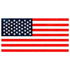 Large American Flag Wall Stencil