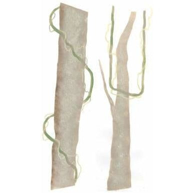 Rainforest Tree Trunks with Vines Stencil