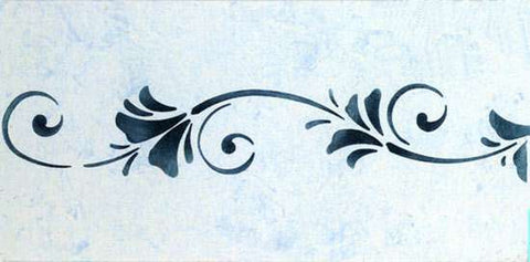 Stencils border floral breeze - Border stencils for painting ...
