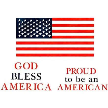American Flag and Sayings Stencil