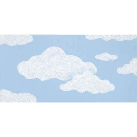 Clouds Stencil Painted