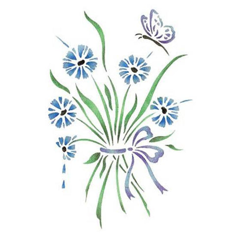Cornflower Bouquet Stencil