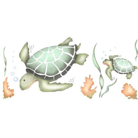 Sea Turtles Stencil
