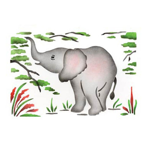 Baby Elephant Craft Stencil