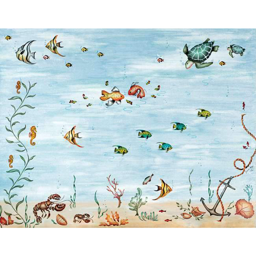 Under The Sea Mural By Jeannie Serpa Was Designed To Bring Ocean Life Into  Your Home. Decorate A Whole Wall With A Mural Like The One Shown  (instructions ... Part 71