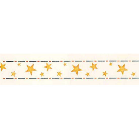 Decorate your child's room or playroom with our Border of Stars Stencil!