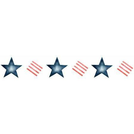 Stars and Stripes Border Stencil