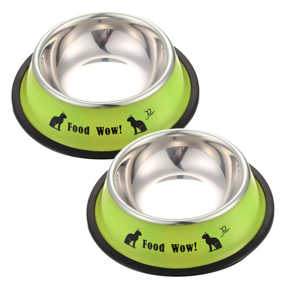 Dog and Cat Bowl Stainless Steel and Anti-skid - World Pet - The Best Pet Store in US. Dog Cat Hamster Chinchila Parrot Parakeet Animals Pet Articles Supplies