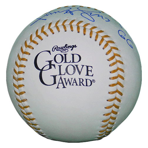Omar Vizquel Autographed Rawlings Gold Glove Official Major League Baseball w/ 11x GG Inscription! JSA