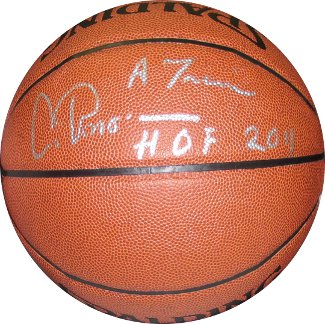Artis Gilmore Signed Indoor/Outdoor Basketball HOF 2011 & A Train (Kentucky Colonels/Spurs/Bulls)