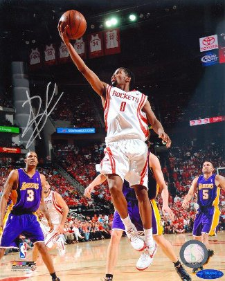 Aaron Brooks Signed Houston Rockets 8x10 Photo- Tri-Star Hologram