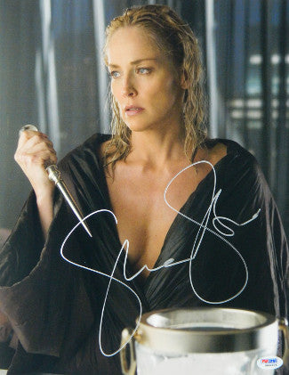Sharon Stone Signed Basic Instinct 2 11x14 Ice Pick Photo Holding (PSA)