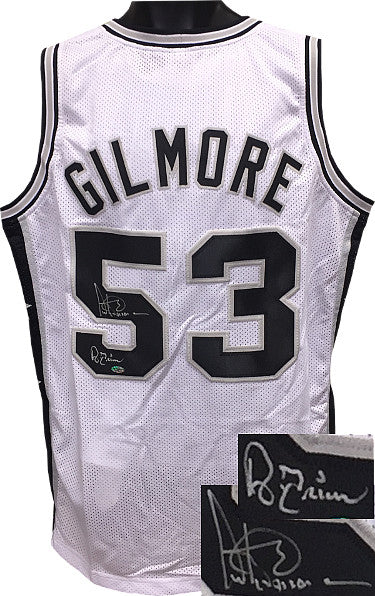 Artis Gilmore Signed White TB Custom Stitched Basketball Jersey A-Train XL- Leaf Hologram