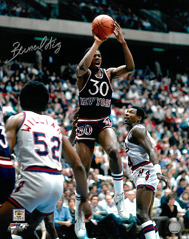Bernard King Signed New Jersey Nets 16x20 Photo (blue jersey)