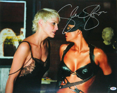 Sharon Stone Signed Catwoman 16X20 Photo With Halle Berry (PSA ITP Holo)