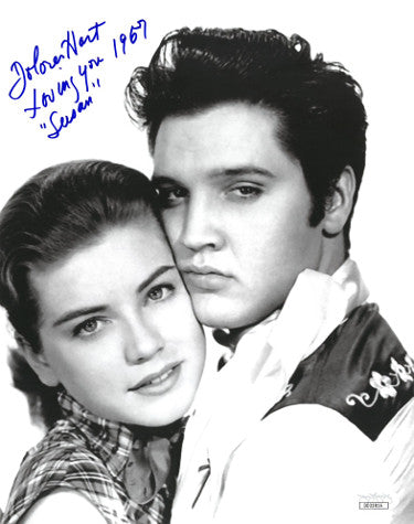 Dolores Hart Signed Inscribed Susan Vintage Loving You 1957 8x10 Photo With Elvis (JSA DD32816)