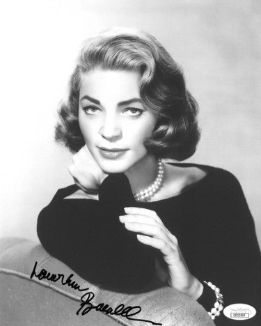 Lauren Bacall Signed Vintage 8x10 Sweater Photo (JSA)