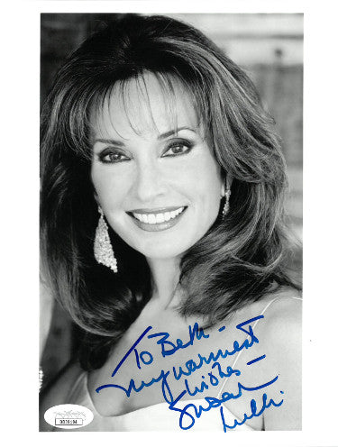 Susan Lucci As Erica Kane From All My Children Signed Inscribed To Beth My Warmest Wishes 7x9 Photo (JSA DD39194)