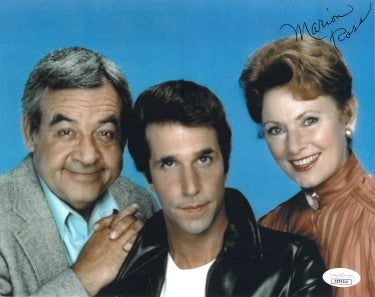Marion Ross Signed Happy Days 8x10 Photo With Tom Bosley And Henry Winkler (JSA DD39310)
