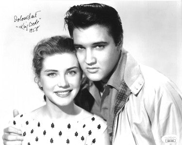 Dolores Hart Signed Vintage 8x10 Photo With Elvis King Creole 1958 (JSA DD47999)