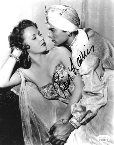 Piper Laurie Signed 1952 Son of Ali Baba Vintage 8x10 Photo With Tony Curtis (JSA DD90947)