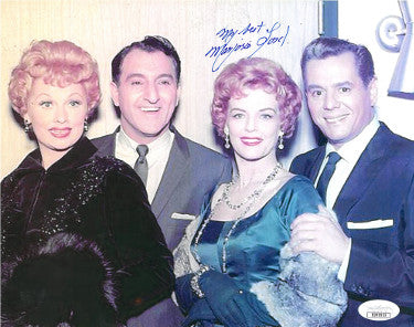 Marjorie Lord Signed Inscribed My Best Vintage Color 8X10 Photo With Danny Thomas/Lucille Ball/Desi Arnaz (JSA DD90953)