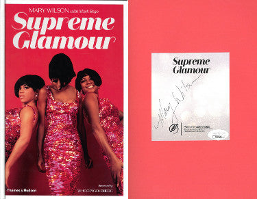 Mary Wilson Of The Supremes/Motown Signed Supreme Glamour Hard Cover Bookplate First Edition Book (JSA)