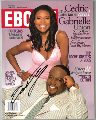 Gabrielle Union Signed Ebony Full Magazine July 2005 With Cedric the Entertainer - Cover Wear (JSA AA38240)