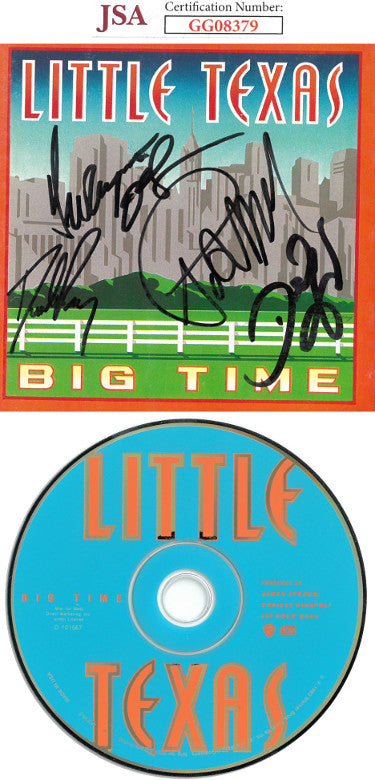 5-Signature Little Texas Band Signed Big Time Album CD Cover With CD - Del Gray/Porter Howell/Dwayne O'Brien/Tim Rushlow (JSA GG08379)
