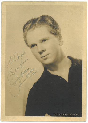 Jackie Cooper Signed Inscribed To Carol Love Vintage 1930s Sepia 5x7 Photo (JSA HH18829)