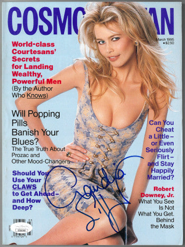 Claudia Schiffer Signed Cosmopolitan Full Magazine March 1995 (JSA EE60268)
