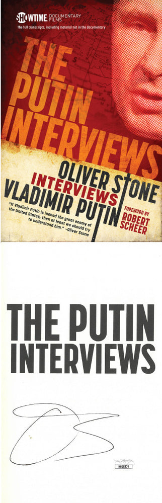 Oliver Stone Signed 2017 The Putin Interviews HardCover Book (JSA)
