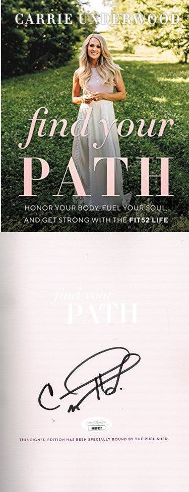 Carrie Underwood Signed 2020 Find Your Path First Edition Hardcover Book (JSA)