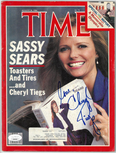 Cheryl Tiegs Signed Inscribed Love Time Full Magazine August 20 1984 (JSA EE60292)