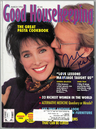 John Tesh Signed Good Housekeeping Full Magazine March 1994 - Cover Wear (JSA EE60291)