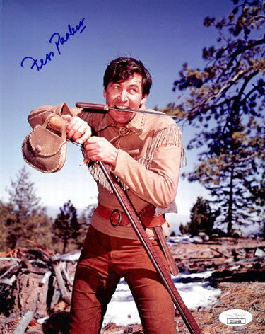 Fess Parker Davy Crockett From Daniel Boone Signed Vintage Color 8x10 Photo (JSA II11064)