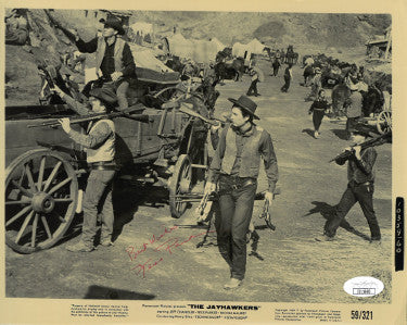 Fess Parker Signed Inscribed Best Wishes 1959 The Jayhawkers Vintage 8x10 Photo (JSA II11660)