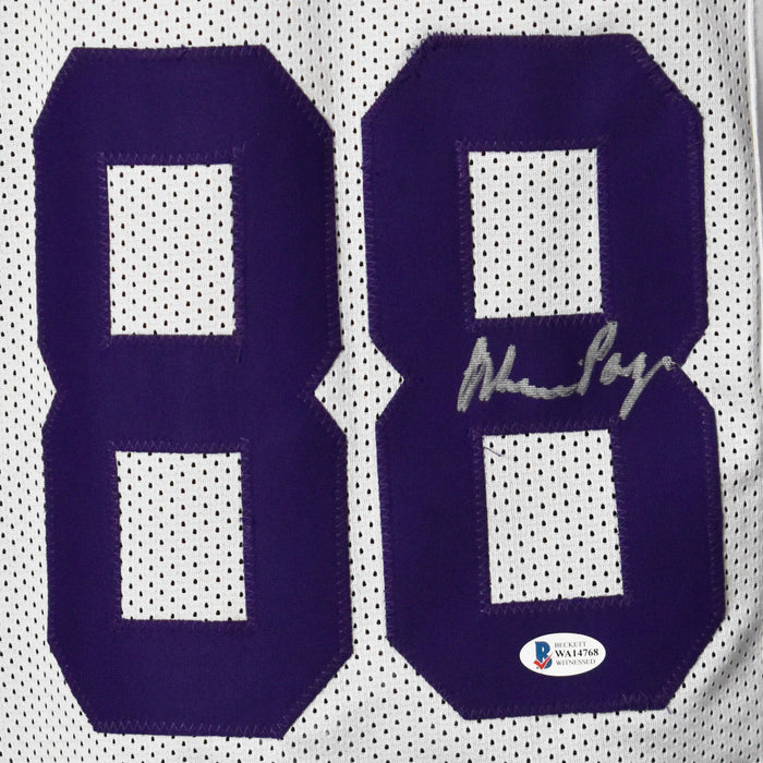 Purple People Eaters Eller, Larsen, Marshall, and Page Signed White Pro-Edition Jersey (Beckett)