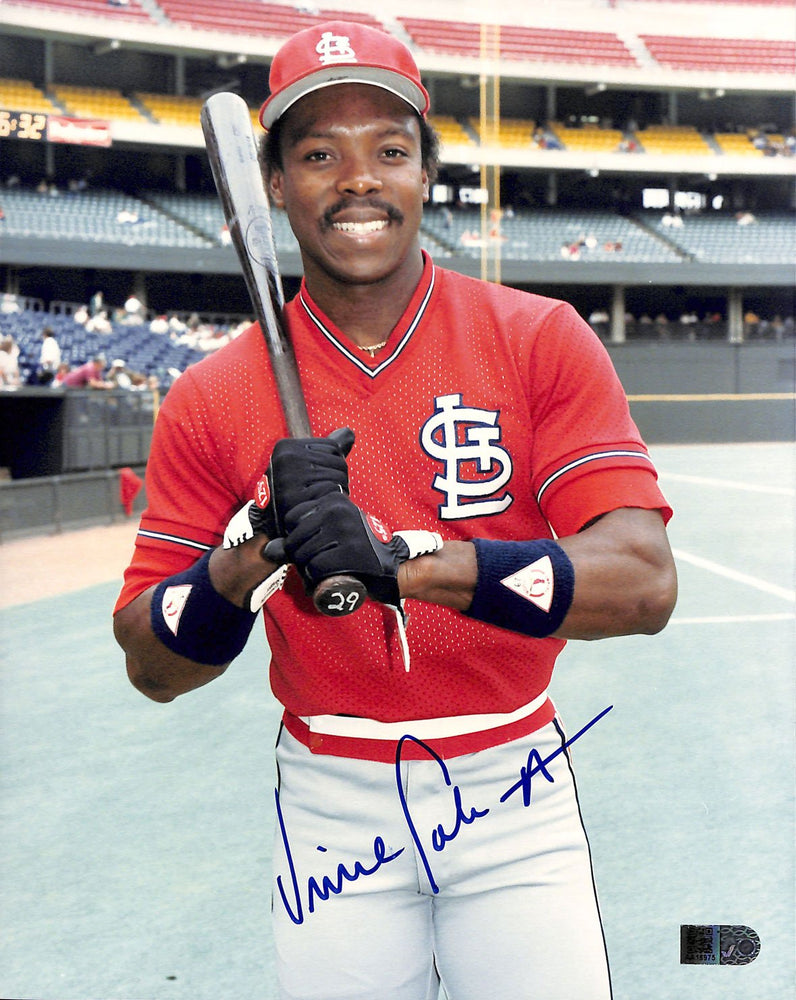 vince coleman signed 8x10 aiv aa16975 certificate of authenticity