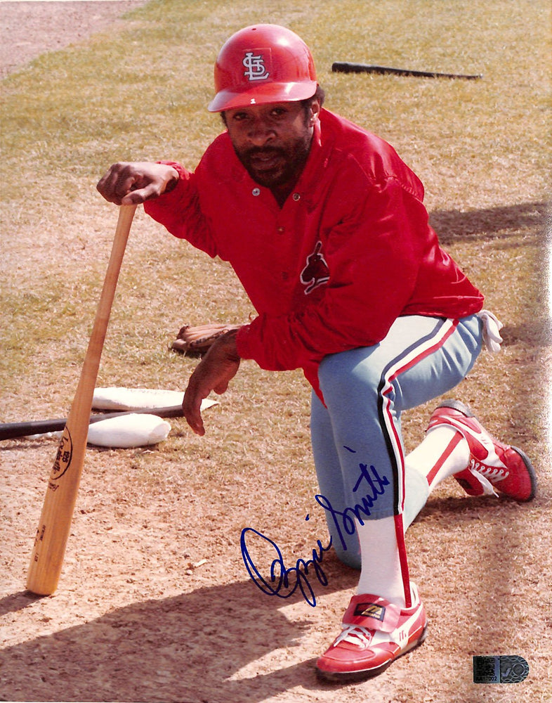 ozzie smith signed 8x10 aiv aa17002 certificate of authenticity