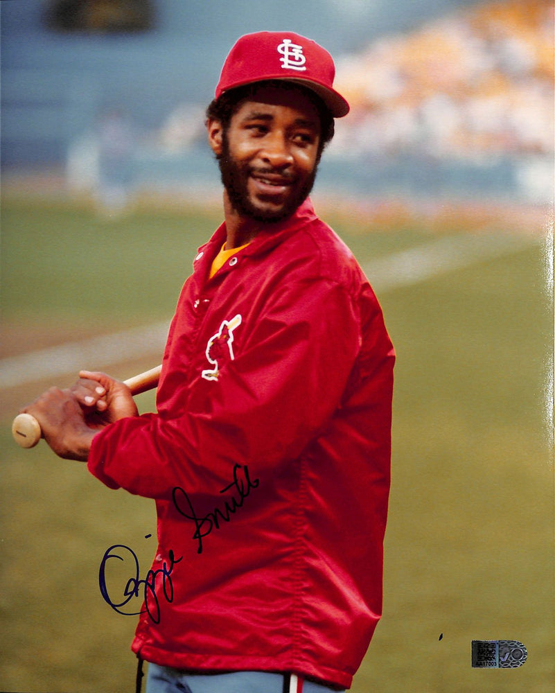 ozzie smith signed 8x10 aiv aa17003 certificate of authenticity