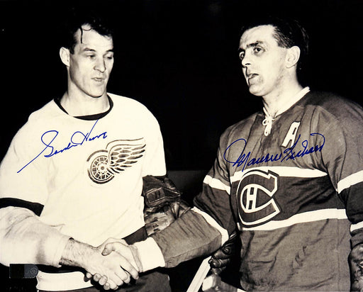gordie howe & maurice richard signed 8x10 photo aiv aa 14534 certificate of authenticity