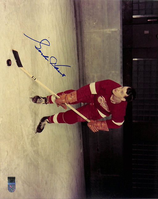 gordie howe signed 8x10 photo bent aiv aa 14551 certificate of authenticity