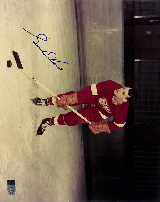 gordie howe signed 8x10 photo bent aiv certificate of authenticity