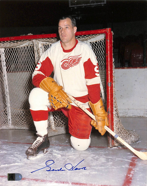 gordie howe signed 8x10 photo net aiv certificate of authenticity