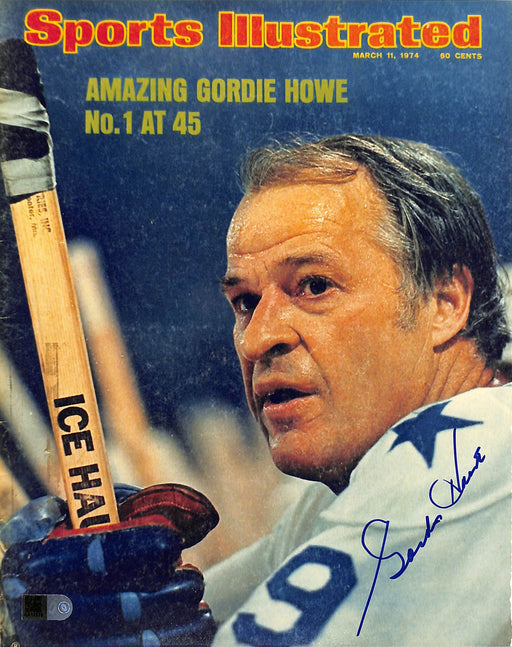 gordie howe signed 8x10 photo aiv aa 14578 certificate of authenticity