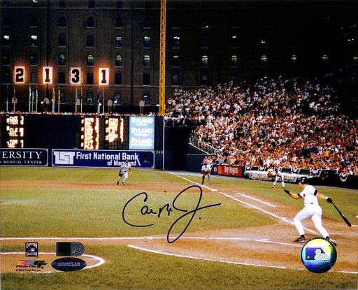 cal ripken jr signed 8x10 photo 2132 lit up aiv certificate of authenticity