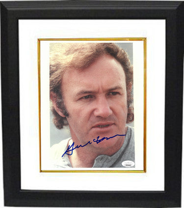 Gene Hackman As Jimmy Popeye Doyle Signed The French Connection 8x10 Photo Custom Framed (JSA FF85460)