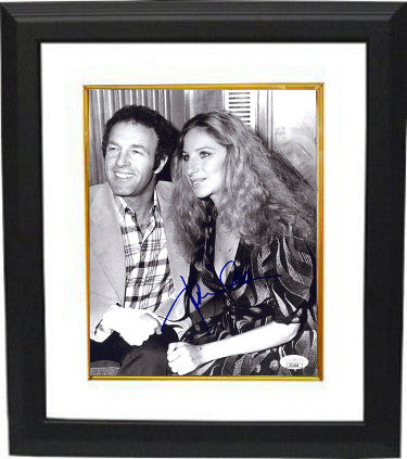 James Caan Signed 1975 Funny Lady 8x10 Photo With Barbra Streisand Custom Framed (JSA II11048)