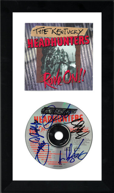 5-Signature The Kentucky Headhunters Signed Rave On Album CD With Cover 6.5x12 Custom Framed (JSA GG38253)